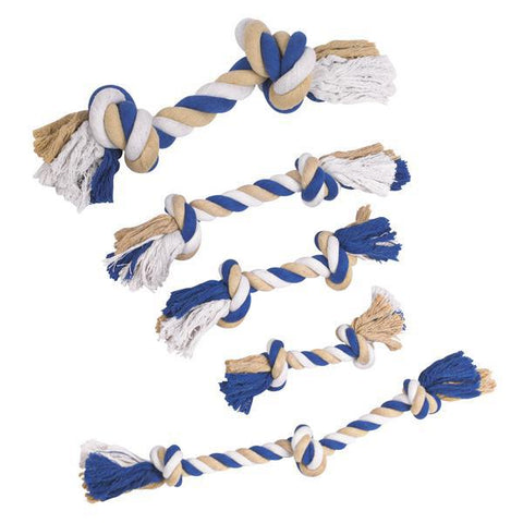 Grriggles Rope DOG CHEW TUG TOY Bones BLUE-DOG-Grriggles-Pets Go Here
