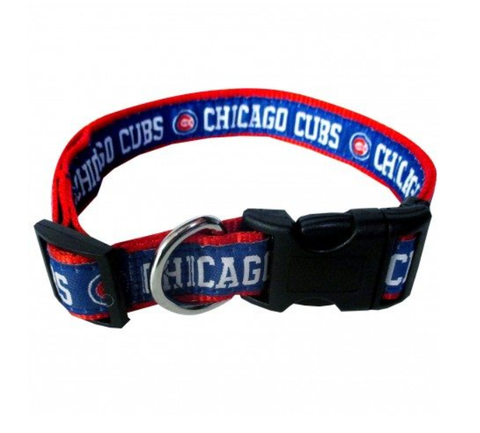 MLB Chicago Cubs Dog Collar S
