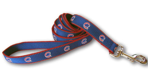 MLB Chicago Cubs Reflective Dog Leash 4 ft, dog, mlb, mlb leash, reflective, sports, sports leash Pets Go Here, petsgohere