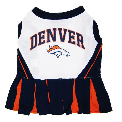 Denver Broncos Dog Cheerleading Uniform Dress-DOG-Pets First-Pets Go Here