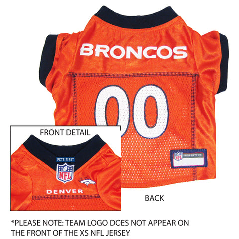 Denver Broncos Dog Jersey-DOG-Pets First-SMALL-Pets Go Here