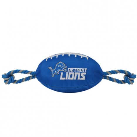 NFL Detroit Lions Nylon Football Dog Toy doggienation, ds, nfl, pets first, sports, sports toys Pets Go Here, petsgohere
