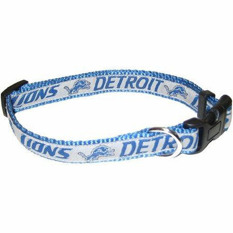 Detroit Lions Dog Collar-DOG-Pets First-18-28 In-Pets Go Here