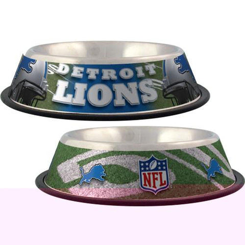Detroit Lions Dog Bowl-DOG-Hunter-Pets Go Here black, dc, hunter, mlb, nfl, sports, sports bowl, stainless steel Pets Go Here, petsgohere