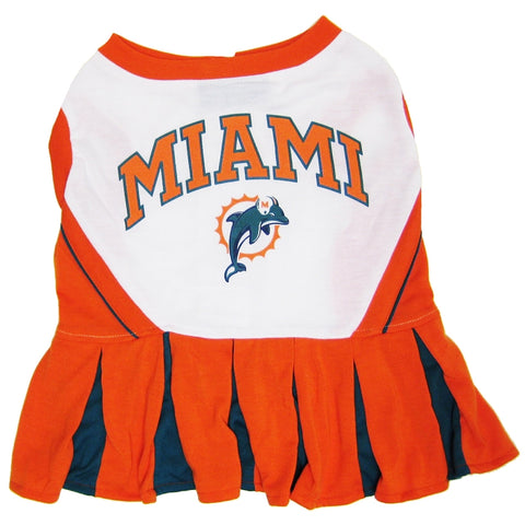 Miami Dolphins Dog Cheerleading Uniform Dress-DOG-Pets First-Pets Go Here