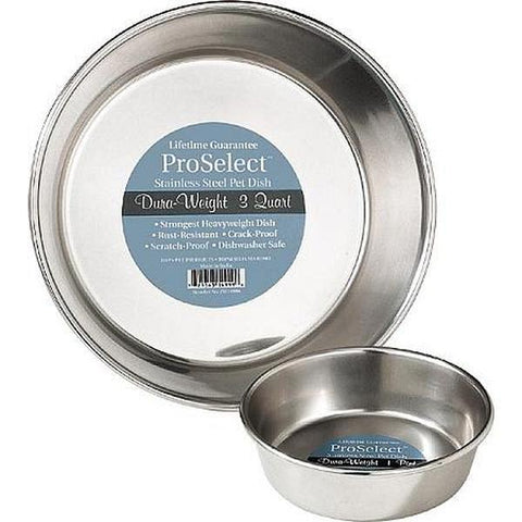 ProSelect Stainless Steel Dog and Cat Dura-weight Bowls-CAT-ProSelect-3 Qt-Pets Go Here 1 pt, 16 oz, bowl, proselect Pets Go Here, petsgohere