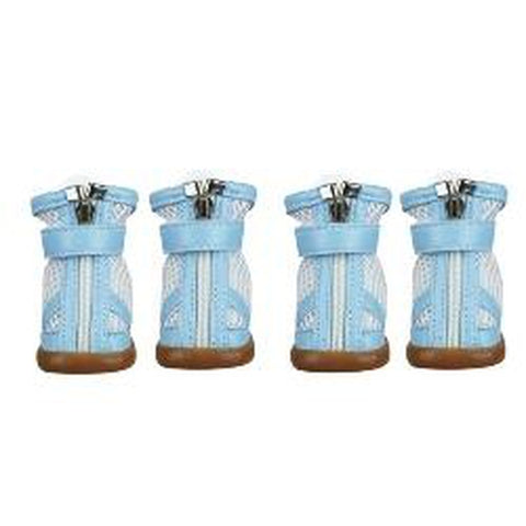 ESC Mesh Dog Boots BLUE-DOG-East Side Collection-LARGE-Pets Go Here