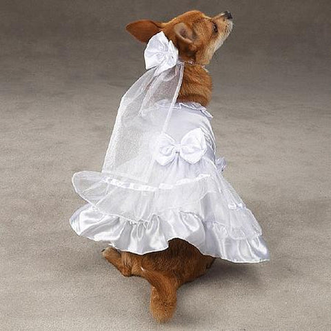 "ESC Yappily Ever After Dog Wedding Dress LARGE 20""-DOG-East Side Collection-LARGE-Pets Go Here dog dress, east side collection, l, m, s, white, xl, xs Pets Go Here, petsgohere"