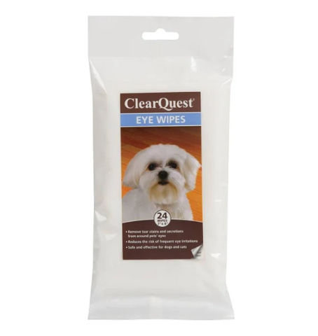 ClearQuest Pet Eye Wipes 24 Pack