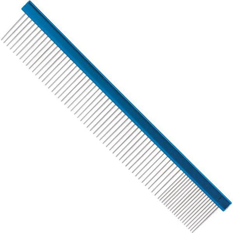 "Master Grooming Tools Aluminum Finishing Dog and Cat Comb 10""-CAT-Master Grooming-Pets Go Here comb, grooming, grooming tool, master grooming, pet grooming Pets Go Here, petsgohere"