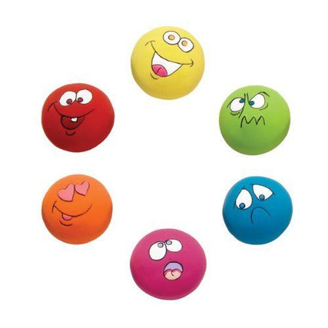 Zanies Squeaker Dog Toy EMOJI bright, dog toy, latex, s, squeak, squeaker, toy, xs Pets Go Here, petsgohere