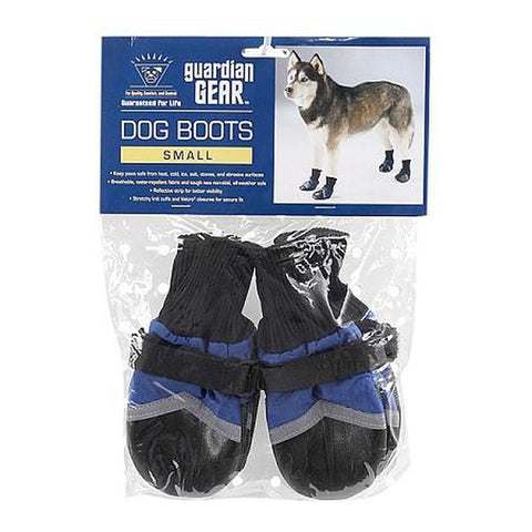 Guardian Gear Fleece Lined Dog Boots-DOG-Guardian Gear-XXX-SMALL-BLUE-Pets Go Here blue, boots, dog boots, fleece, guardian gear, red, reflective, xxxs Pets Go Here, petsgohere