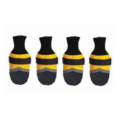 Guardian Gear Dog Boots YELLOW-DOG-Guardian Gear-XXX-SMALL-Pets Go Here boots, dog boots, guardian gear, l, m, paw, red, reflective, s, xl, xs, xxxs, yellow Pets Go Here, petsgohere