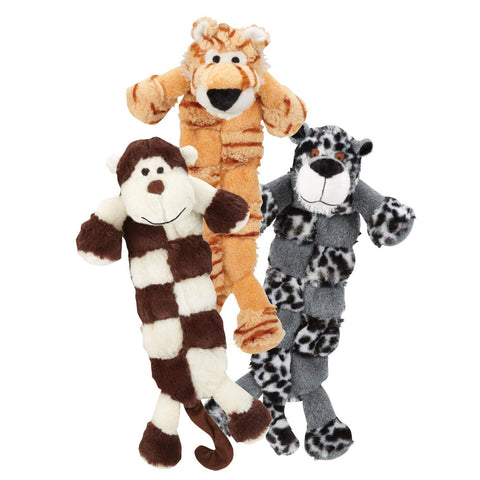 Grriggles Safari Squeaktaculars Dog Toy dog toy, grriggles, leopard, plush, plush toy, squeaker, tiger, toy Pets Go Here, petsgohere