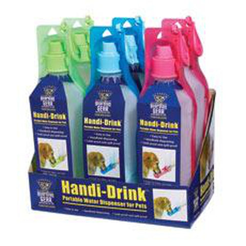 Guardian Gear Handi-Drink Portable Dog Water Bottle 17 oz LIME-DOG-Guardian Gear-Pets Go Here green, guardian gear, lime, lime green Pets Go Here, petsgohere