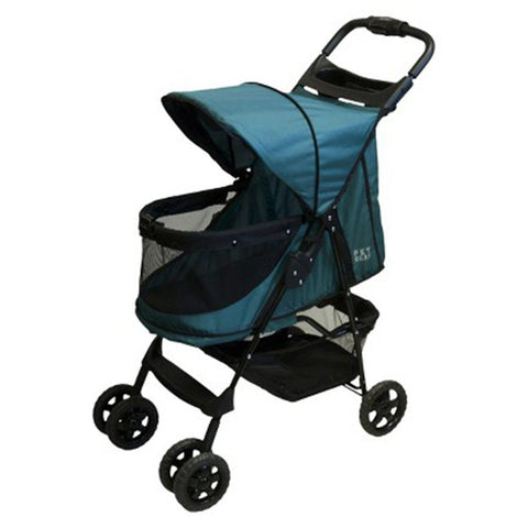 Pet Gear No-Zip Happy Trails Pet Stroller-DOG-Pet Gear-EMERALD-Pets Go Here fleece, pet gear, stroller Pets Go Here, petsgohere