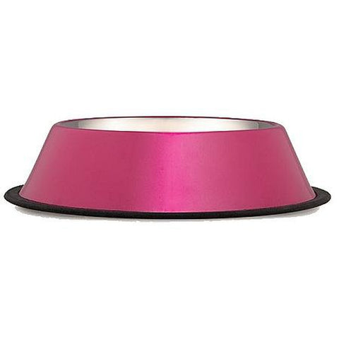 ProSelect Anti-Skid Bowl Hot PINK Cat Dog Bowl/Dish-CAT-ProSelect-8 Oz-Pets Go Here 1 pt, 16 oz, 8 oz, bowl, dog bowl, pink, proselect Pets Go Here, petsgohere