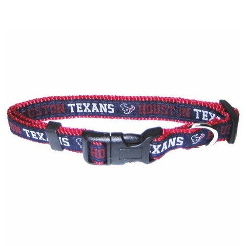 Houston Texans Dog Collar 2-DOG-Pets First-MEDIUM-Pets Go Here nfl, nylon, s, sports, sports collar Pets Go Here, petsgohere