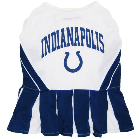 Indianapolis Colts Dog Cheerleading Uniform Dress-DOG-Pets First-Pets Go Here