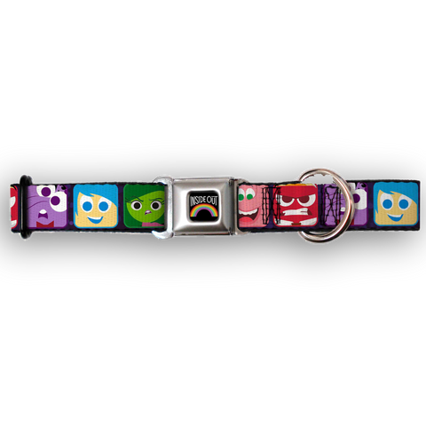Buckle Down Disney Inside Out Dog Collar-DOG-Buckle Down-SMALL-Pets Go Here buckle down, cartoon, character, collar, disney, dog, dog collar, fashionable, l, m, movie, new, nylon, pet collar, s, seatbelt, trendy, tv show Pets Go Here, petsgohere