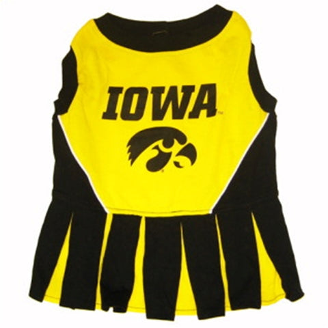 Iowa Hawkeyes Dog Cheerleading Uniform Dress-DOG-Pets First-Pets Go Here