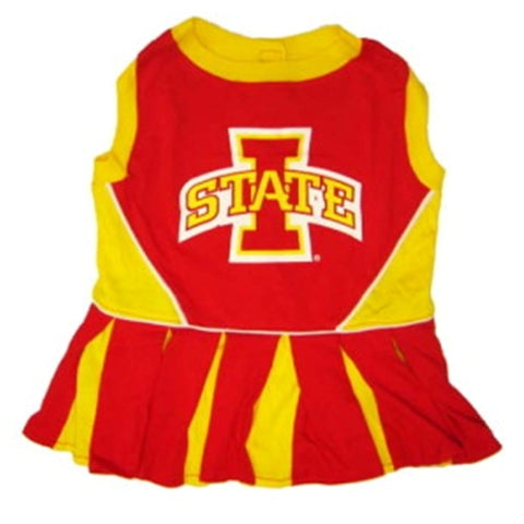 Iowa State Dog Cheerleading Uniform Dress-DOG-Pets First-Pets Go Here costume, dog, dog dress, ncaa, pets first, sports, uniform Pets Go Here, petsgohere