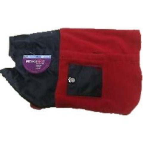 PetRageous Jackson Fleece Jacket RED & NAVY-DOG-PetRageous-Pets Go Here