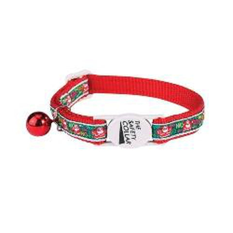 Savvy Tabby Winter Cat Kitten Collar Collection Jolly St Nick-CAT-Savvy Tabby-Pets Go Here cat, cat collar, collar, holiday, kitten, red, savvy tabby, seasonal Pets Go Here, petsgohere