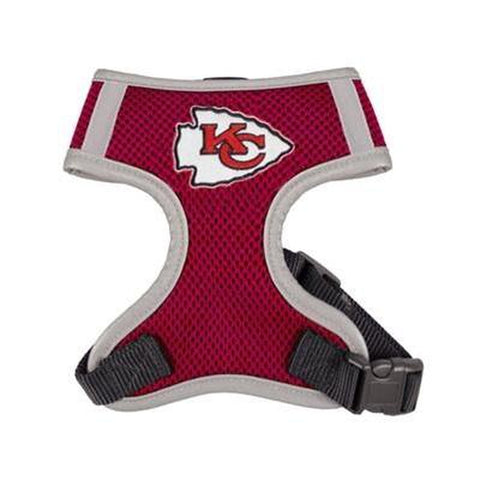 Kansas City Chiefs Dog Harness Vest-DOG-Hip Doggie-X-LARGE-Pets Go Here hip doggie, hunter, l, m, nfl, nfl harness, reflective, s, sports, sports harness, vest, xl, xs Pets Go Here, petsgohere