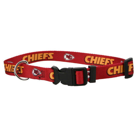 Kansas City Chiefs Dog Collar-DOG-Hunter-X-SMALL-Pets Go Here l, m, m/l, nfl, nylon, pet goods, s, s/m, xl, xs Pets Go Here, petsgohere