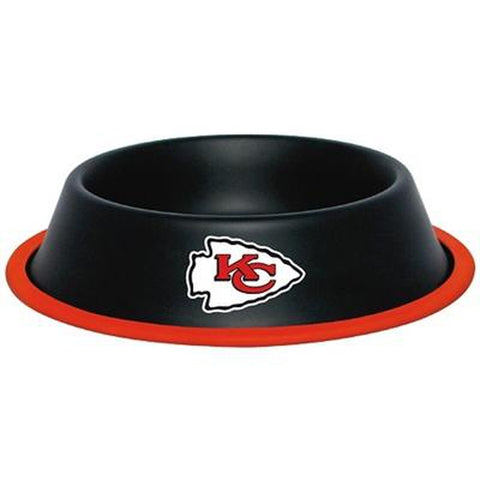 Kansas City Chiefs Metal Dog Bowl-DOG-Hunter-Pets Go Here dc, hunter, nfl Pets Go Here, petsgohere