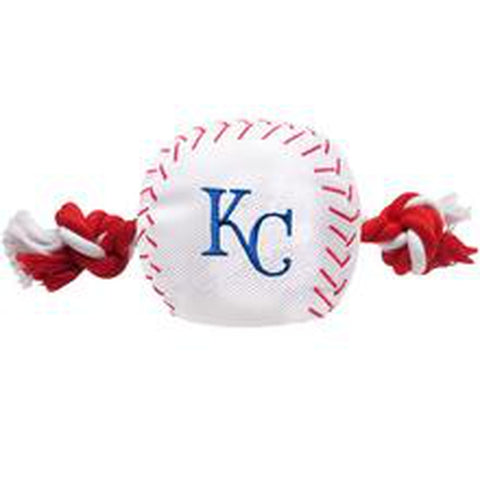 Kansas City Royals Baseball Toy w/ Rope-DOG-Pets First-Pets Go Here