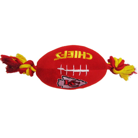 Kansas City Chiefs Plush Dog Toy Football-DOG-Pets First-Pets Go Here doggienation, ds, pets first, sports, sports toys Pets Go Here, petsgohere