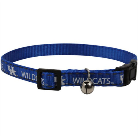 Kentucky Wildcats Breakaway Cat Collar-CAT-Pet Goods-Pets Go Here cat collar sports, ncaa cat collar, nylon, pet goods, reflective, sports Pets Go Here, petsgohere