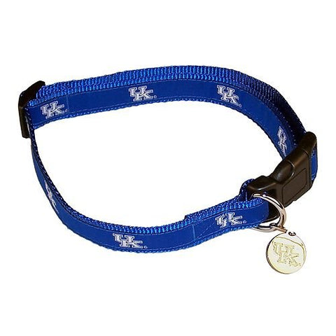 NCAA Kentucky Wildcats Dog Collar EMBROIDERED 4 ft, 6 ft, l, m, ncaa, nylon, pet goods, s, sports, sports collar, xl, xs Pets Go Here, petsgohere