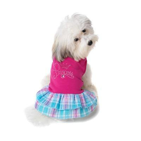 Petrageous Princess Dog Dress SMALL-DOG-PetRageous-Pets Go Here dog dress, petrageous, pink Pets Go Here, petsgohere