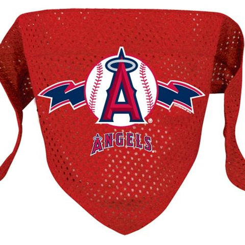 Los Angeles Angels Mesh Dog Bandana-DOG-Hunter-LARGE-Pets Go Here bandana, dc, hunter, l, m, mlb, s, sports, sports bandana, test, xl, xs Pets Go Here, petsgohere