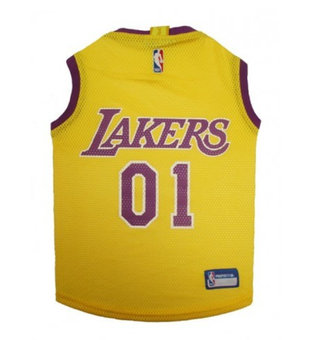 NBA Los Angeles Lakers Dog Jersey YELLOW doggienation, ds, jersey, l, m, nba, nba jersey, pet goods, s, sports jersey, test, xl, xs Pets Go Here, petsgohere