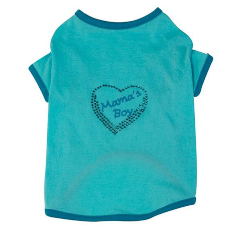 Zack and Zoey Mama's Boy Dog Shirt-DOG-Zack & Zoey-X-LARGE-Pets Go Here blue, shirt, xl, zack & zoey Pets Go Here, petsgohere