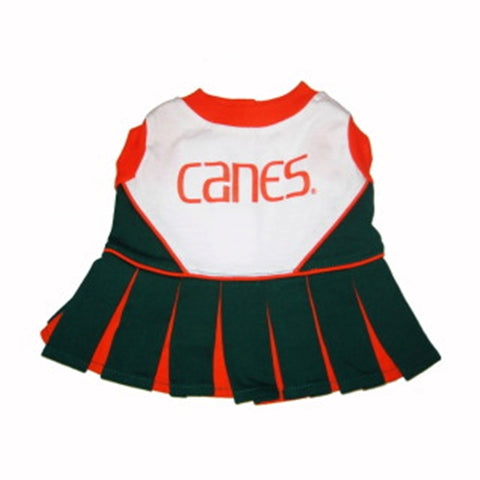 Miami Hurricanes Dog Cheerleading Uniform Dress-DOG-Pets First-Pets Go Here costume, dog, dog dress, ncaa, pets first, sports, uniform Pets Go Here, petsgohere