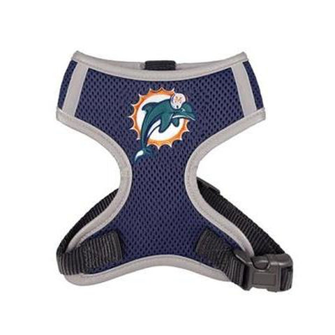 Miami Dolphins Dog Harness Vest-DOG-Hip Doggie-X-LARGE-Pets Go Here hip doggie, hunter, l, m, nfl, nfl harness, reflective, s, sports, sports harness, vest, xl, xs Pets Go Here, petsgohere