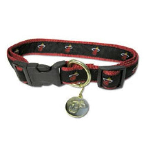 Miami Heat Dog Collar-DOG-Sporty K9-SMALL-Pets Go Here m, m/l, mlb, nba, ncaa, s, sports, sports collar, sporty k9, xs Pets Go Here, petsgohere