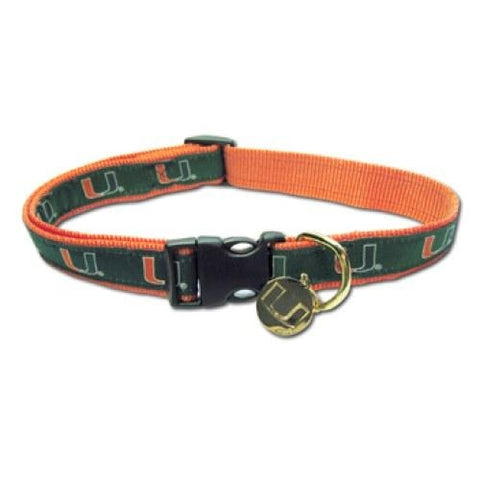 Miami Hurricanes Dog Embroidered Dog Collar-DOG-Hunter-SMALL-Pets Go Here hunter, l, m, m/l, s, s/m, xl, xs Pets Go Here, petsgohere
