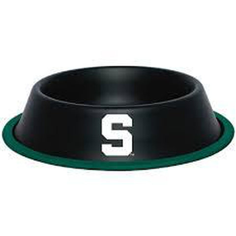 Michigan State Metal Dog Bowl-DOG-Hunter-Pets Go Here black, dc, hunter, ncaa, sports, sports bowl, stainless steel Pets Go Here, petsgohere