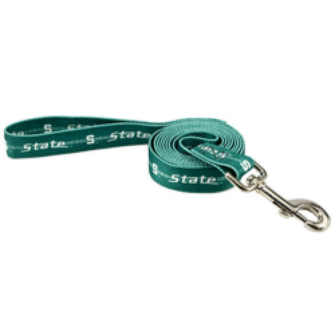Michigan State Dog Leash-DOG-Pets First-Pets Go Here 4 ft, 6 ft, m, michigan state, ncaa, ncaa leash, nylon, pets first, spartans, sports, sports leash Pets Go Here, petsgohere
