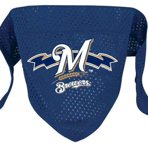 Milwaukee Brewers Mesh Dog Bandana-DOG-Hunter-SMALL-Pets Go Here bandana, dc, hunter, l, m, mlb, s, sports, sports bandana, xl, xs Pets Go Here, petsgohere