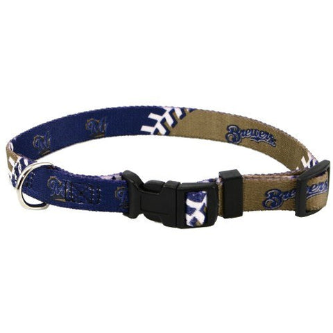 Milwaukee Brewers Dog Collar-DOG-Hunter-Pets Go Here hunter, mlb, nylon Pets Go Here, petsgohere