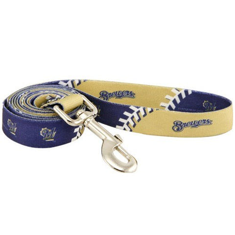Milwaukee Brewers Dog Leash-DOG-Hunter-Pets Go Here 4 ft, hunter, mlb Pets Go Here, petsgohere