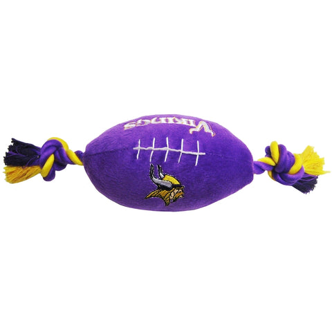 Minnesota Vikings Plush Dog Toy Football-DOG-Pets First-Pets Go Here dc, doggienation, ds, oos, pets first, sports, sports toys Pets Go Here, petsgohere