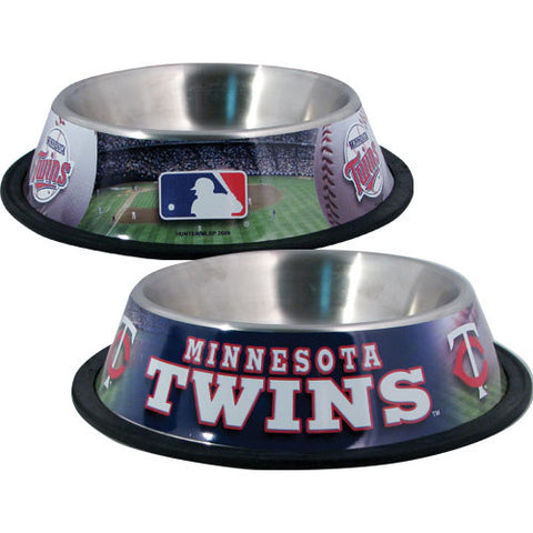 Minnesota Twins Dog Bowl-DOG-Hunter-Pets Go Here black, hunter, sports, sports bowl, stainless steel Pets Go Here, petsgohere